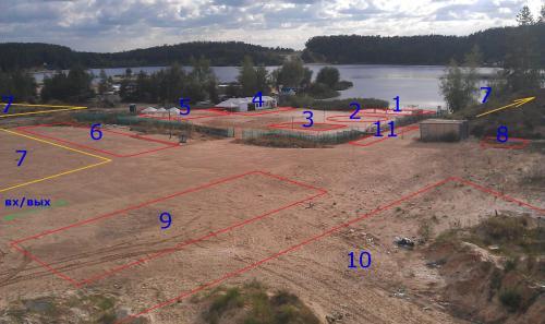 Схема проезда: Карта Google.  1.Сцена 2.Танцевальная зона 3.Игровая площадка (футбол, волейбол) 4.Кафе...