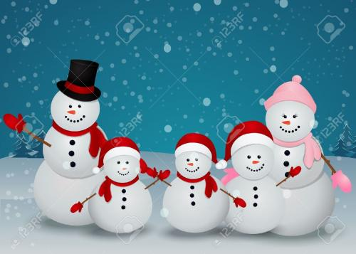 20782709-Vector-Illustration-Of-snowman-